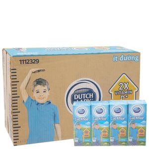Thùng 48 hộp sữa tiệt trùng Dutch Lady Cao khoẻ ít đường 170ml