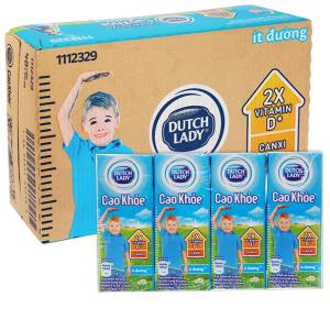 Thùng 48 hộp sữa tiệt trùng ít đường Dutch Lady Cao khoẻ 170ml
