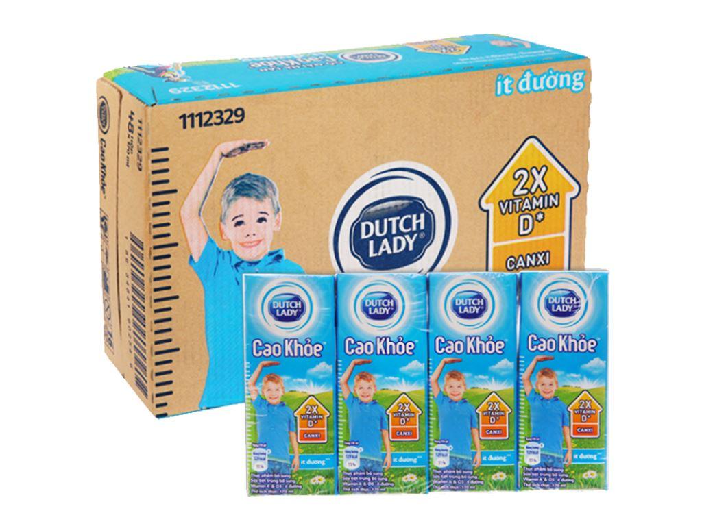 Thùng 48 hộp sữa tiệt trùng ít đường Dutch Lady Cao Khoẻ 170ml 1