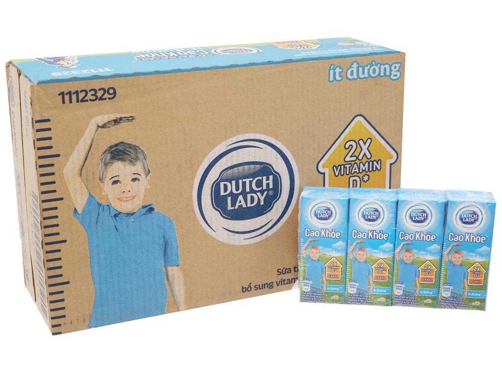 Thùng 48 hộp sữa tiệt trùng Dutch Lady Cao khoẻ ít đường 170ml 2