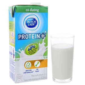 Sữa tiệt trùng Dutch Lady Protein+ có đường hộp 1 lít