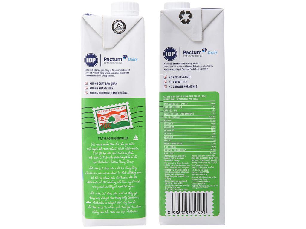 Thùng 12 hộp sữa tươi tiệt trùng ít đường LiF 1 lít 4