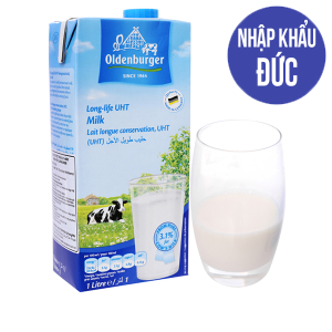 Sữa tiệt trùng Oldenburger 3.1% béo hộp 1 lít