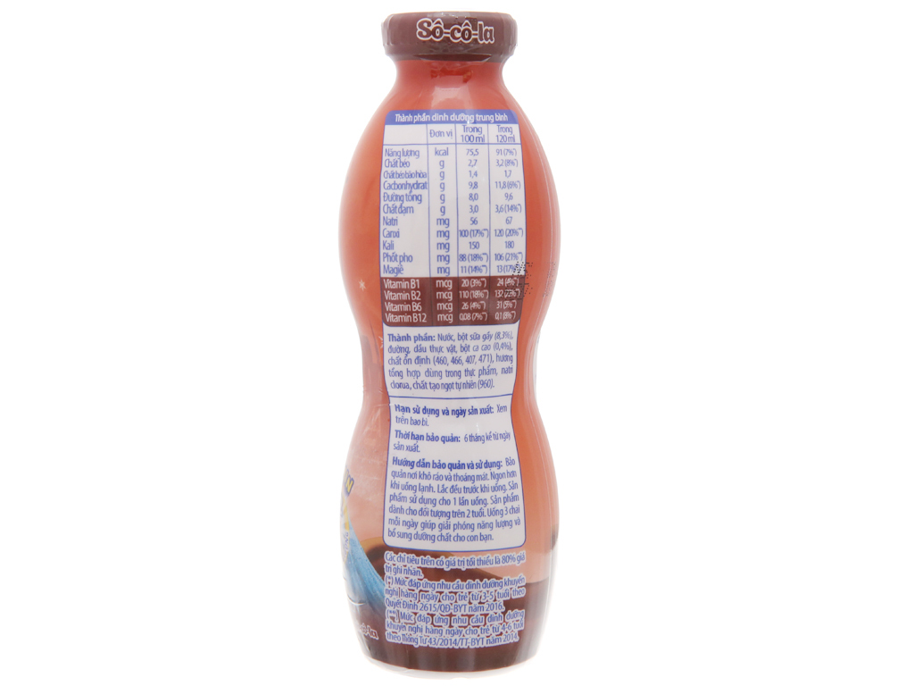 Sữa tiệt trùng Fristi sô cô la chai 120ml 5