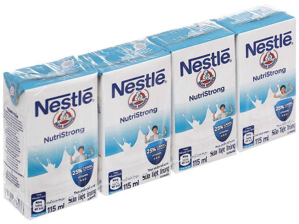 Lốc 4 hộp sữa tiệt trùng có đường Nestlé NutriStrong 115ml 1