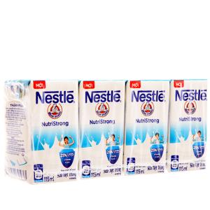 Lốc 4 hộp sữa tiệt trùng Nestlé NutriStrong có đường 115ml