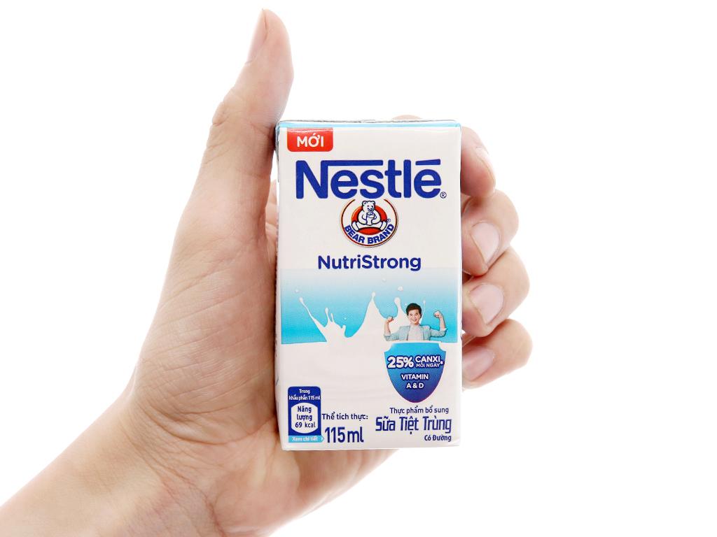 Lốc 4 hộp sữa tiệt trùng Nestlé NutriStrong có đường 115ml 5