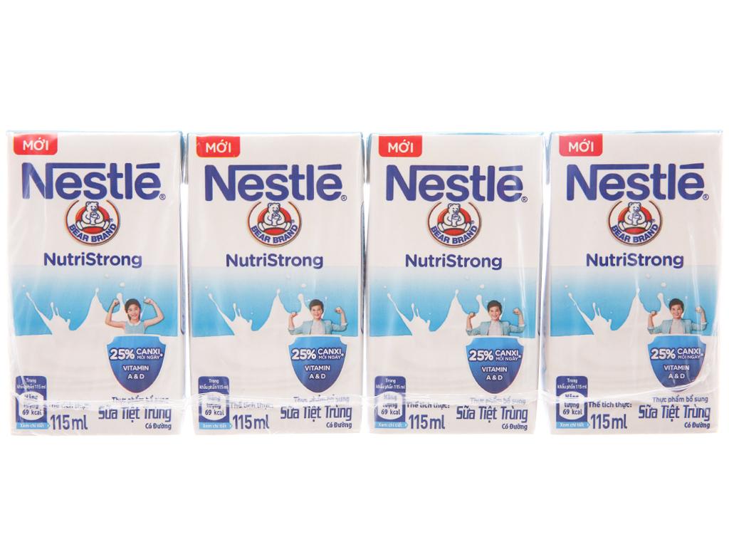 Lốc 4 hộp sữa tiệt trùng Nestlé NutriStrong có đường 115ml 2