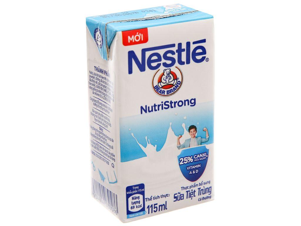 Sữa tiệt trùng Nestlé NutriStrong có đường hộp 115ml 2