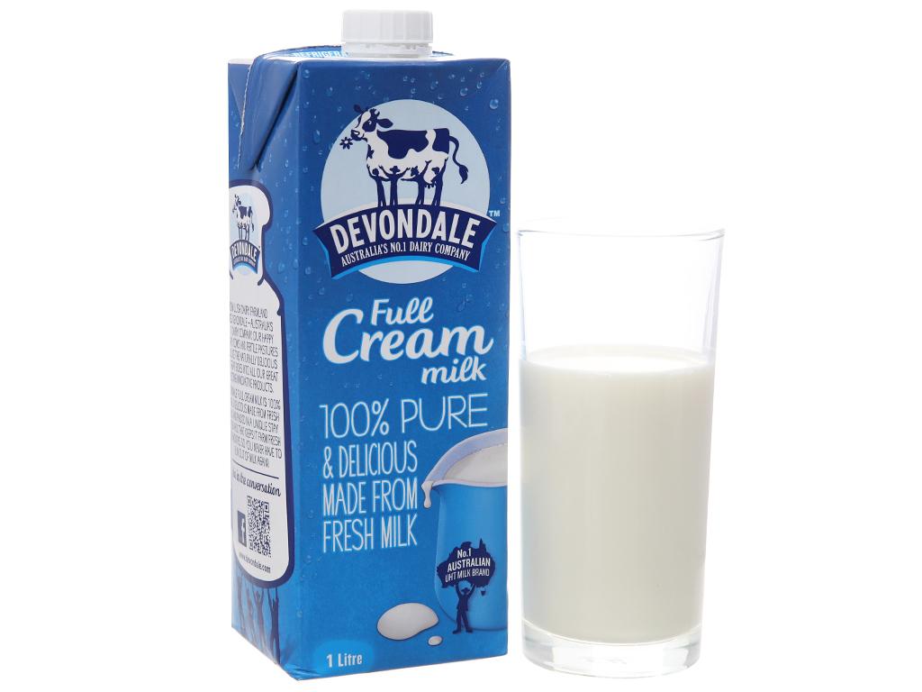 Sữa tươi tiệt trùng nguyên kem Devondale hộp 1 lít 1