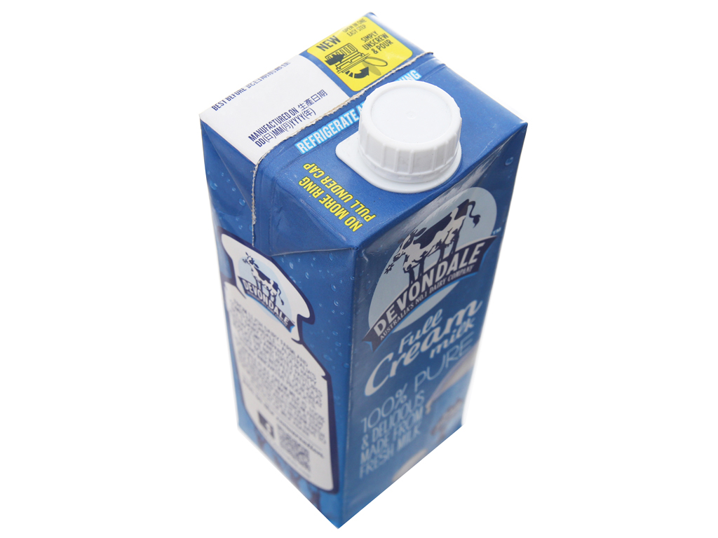 Sữa tươi tiệt trùng nguyên kem Devondale hộp 1 lít 3