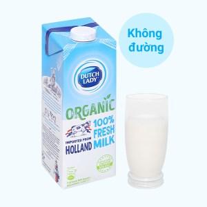 Sữa tươi tiệt trùng Dutch Lady 100% Organic hộp 1 lít
