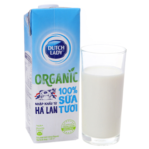 Sữa tươi tiệt trùng Dutch Lady 100% Organic nguyên chất hộp 1 lít