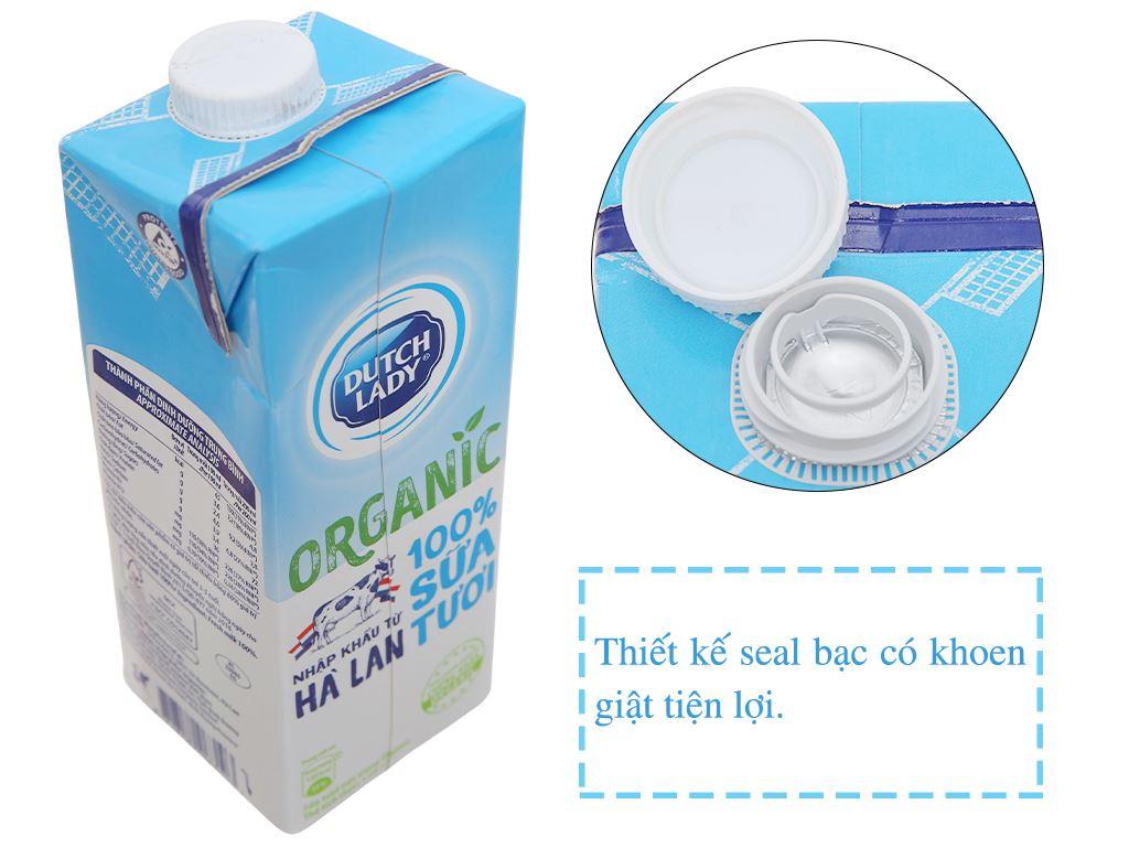 Sữa tươi tiệt trùng Dutch Lady 100% Organic nguyên chất hộp 1 lít 2