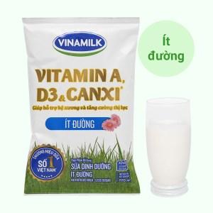 Sữa dinh dưỡng ít đường Vinamilk A&D3 bịch 220ml