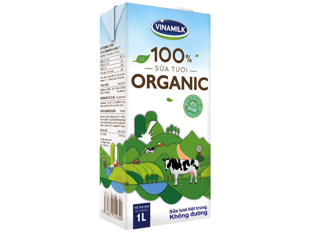 Thùng 12 hộp sữa tươi tiệt trùng Dutch Lady 100% Organic hộp 1 lít 2