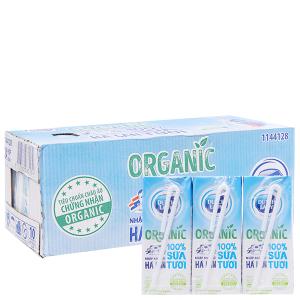 Thùng 24 hộp sữa tươi tiệt trùng Dutch Lady 100% Organic 200ml