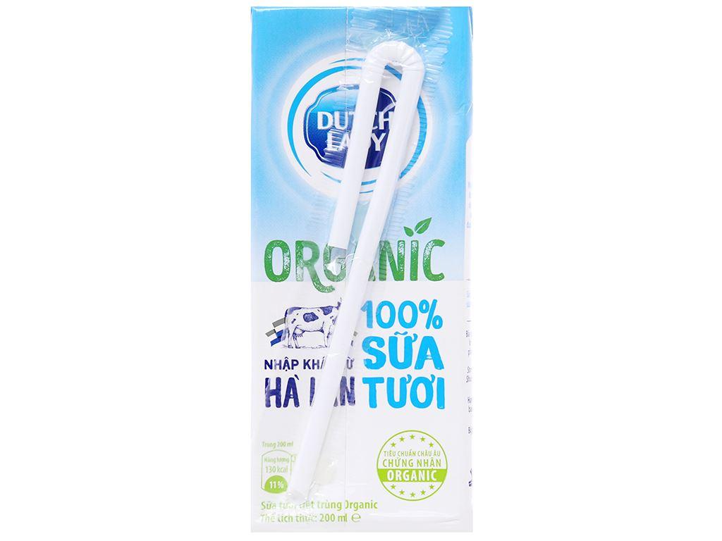Thùng 24 hộp sữa tươi tiệt trùng Dutch Lady 100% Organic 200ml 3