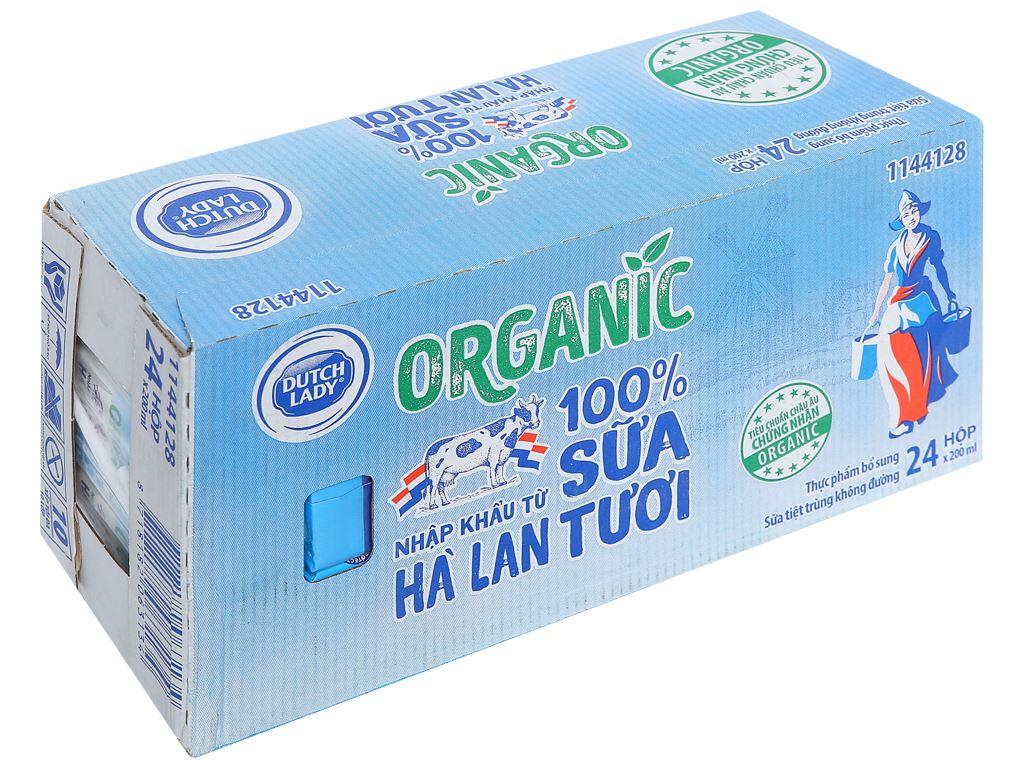 Thùng 24 hộp sữa tươi tiệt trùng Dutch Lady 100% Organic 200ml 1