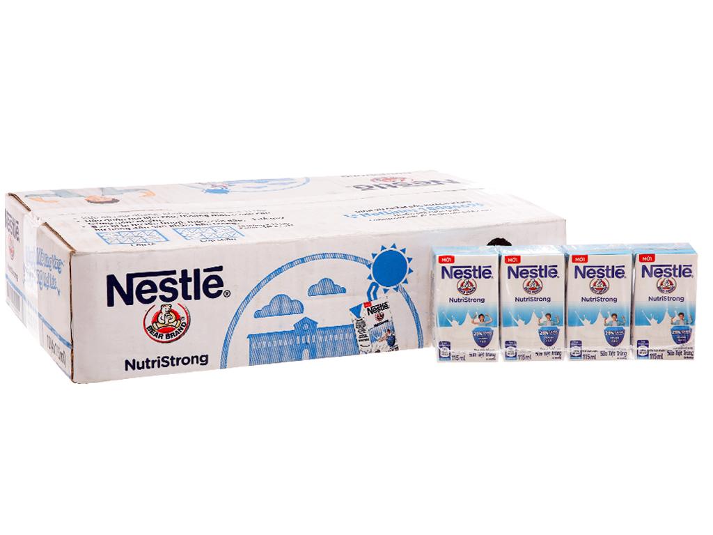 Thùng 48 hộp sữa tiệt trùng Nestlé NutriStrong có đường 115ml 2