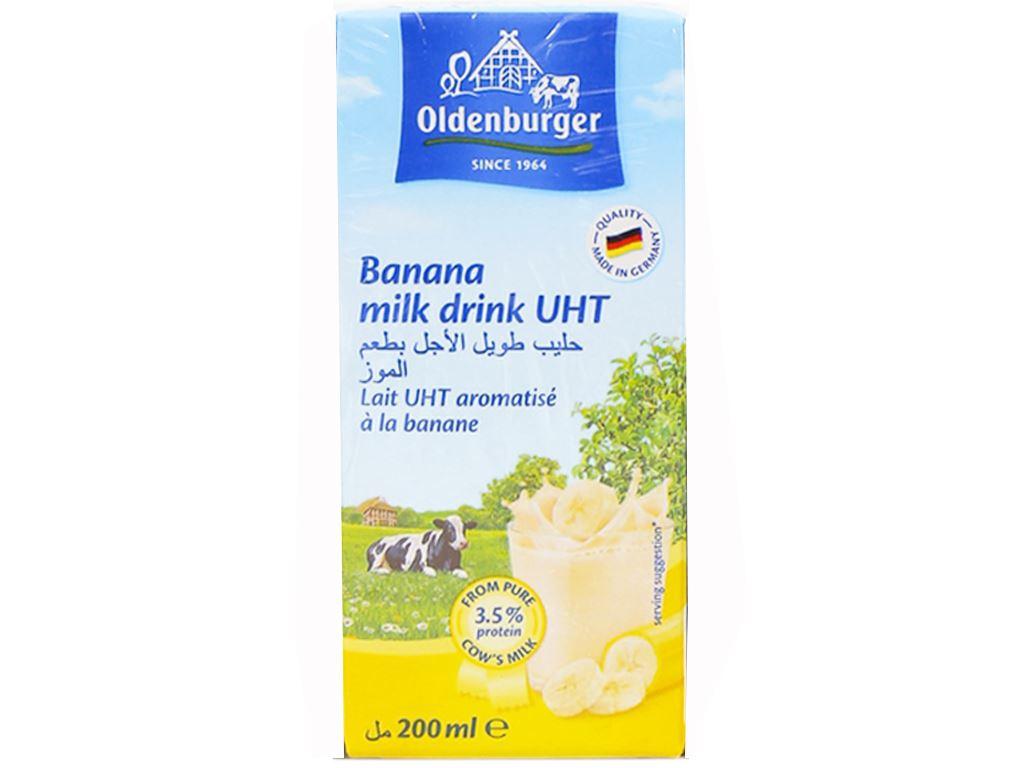 Thùng 24 hộp sữa tươi tiệt trùng hương chuối Oldenburger 200ml 2