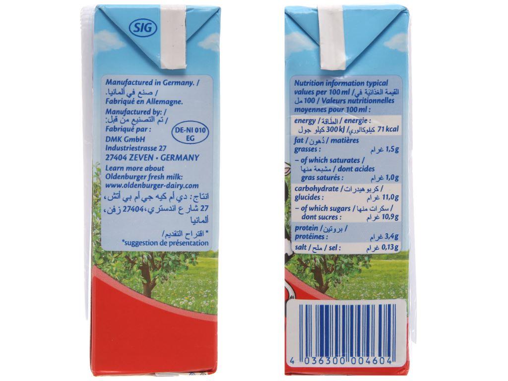 Thùng 24 hộp sữa tươi tiệt trùng hương dâu Oldenburger 200ml 3