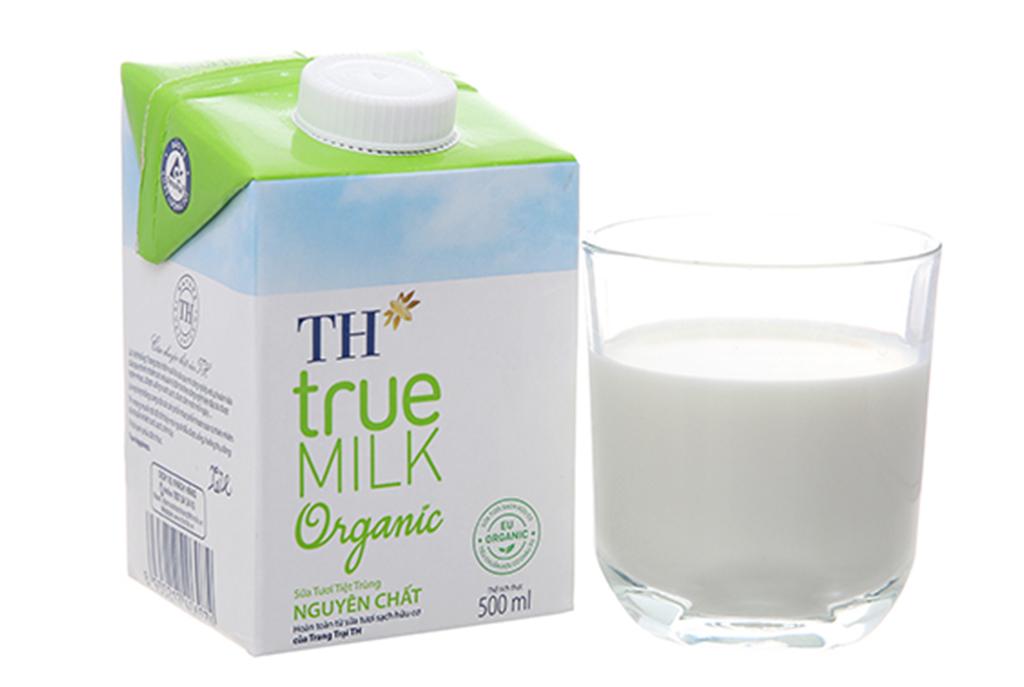 Thùng 12 hộp sữa tươi tiệt trùng TH true MILK Organic 500ml 3