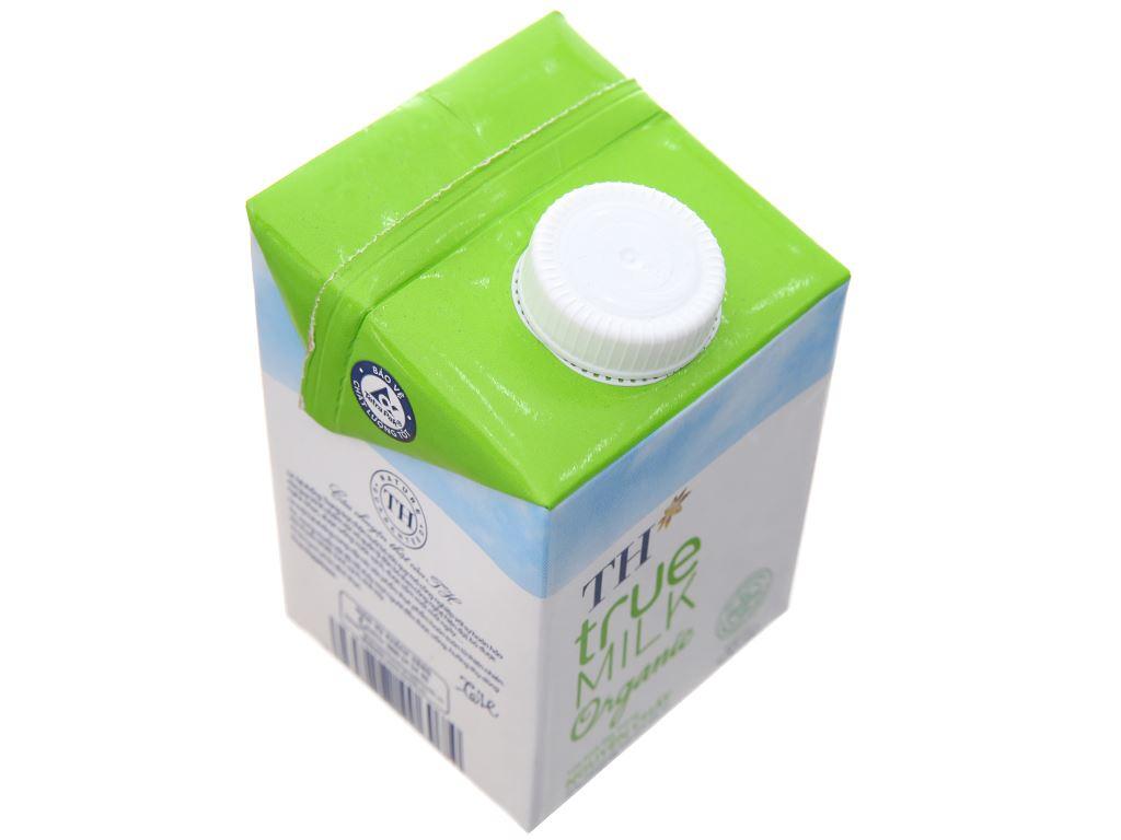 Thùng 12 hộp sữa tươi tiệt trùng TH true MILK Organic nguyên chất 500ml 4