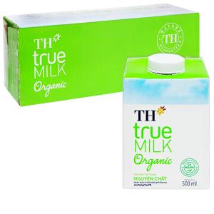Thùng 12 hộp sữa tươi tiệt trùng TH true MILK Organic 500ml