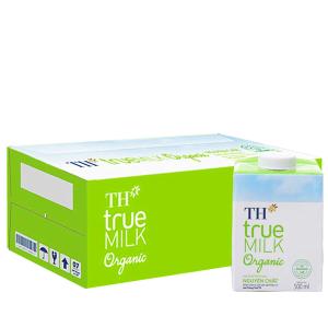 Thùng 12 hộp sữa tươi tiệt trùng TH true MILK Organic nguyên chất 500ml