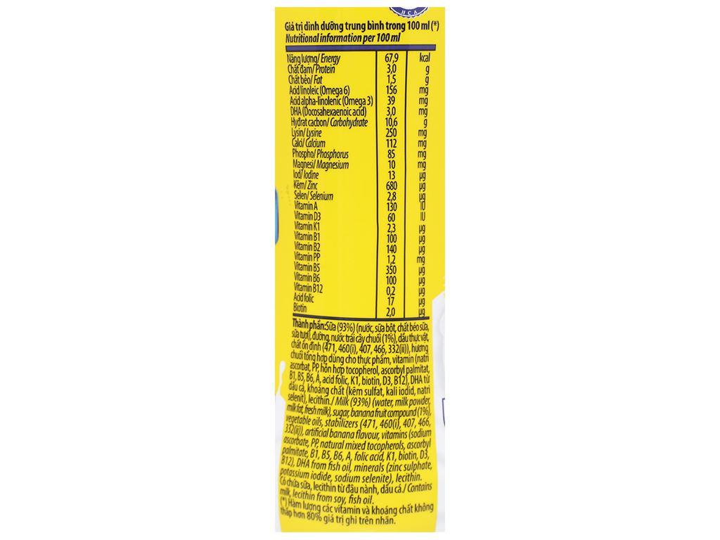 Sữa dinh dưỡng tiệt trùng Vinamilk ADM Gold hương chuối chai 150ml 9
