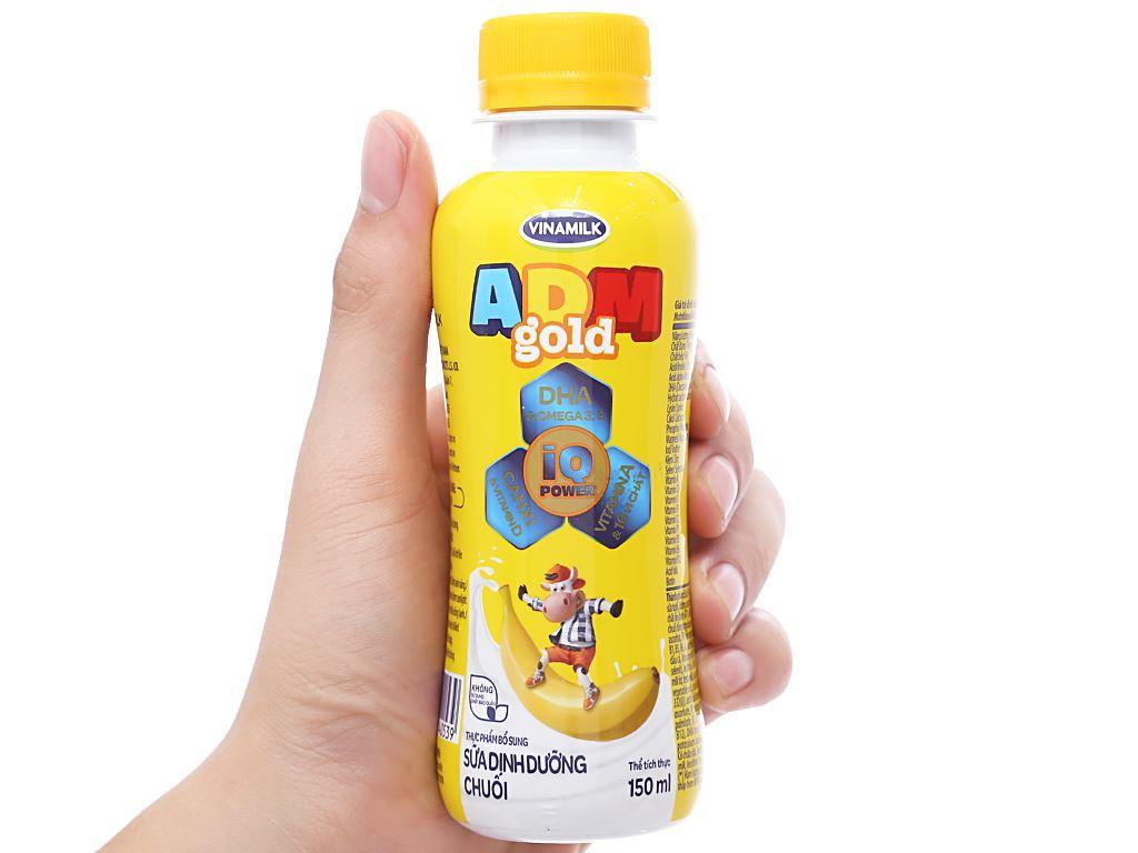 Sữa dinh dưỡng tiệt trùng Vinamilk ADM Gold hương chuối chai 150ml 10