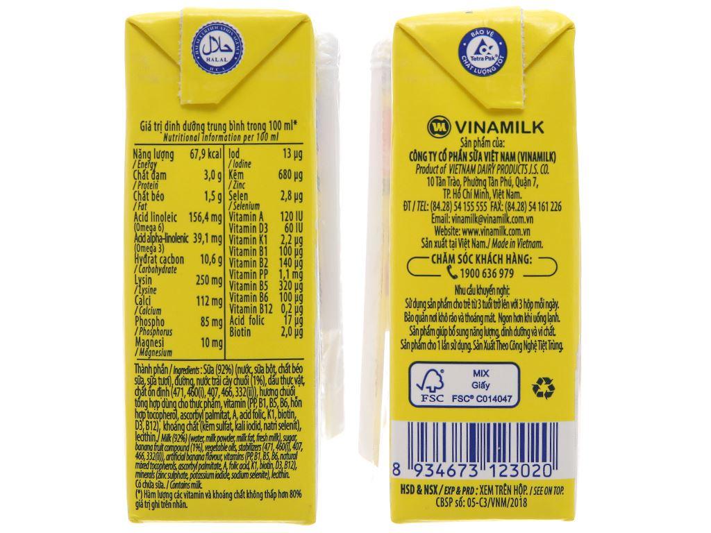 Vinamilk ADM Gold hương chuối hộp 110ml 4