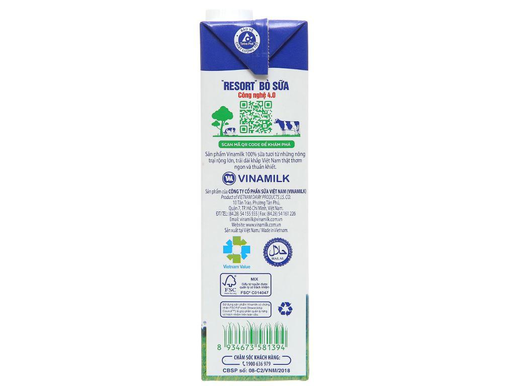 Thùng 12 hộp sữa tươi ít đường Vinamilk 100% Sữa Tươi 1 lít 9