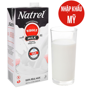 Sữa tươi tiệt trùng Natrel nguyên kem hộp 946ml