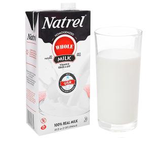 Sữa tươi nguyên kem không đường Natrel hộp 946ml