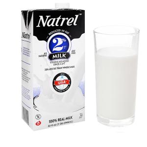 Sữa tươi tiệt trùng 2% béo Natrel hộp 946ml