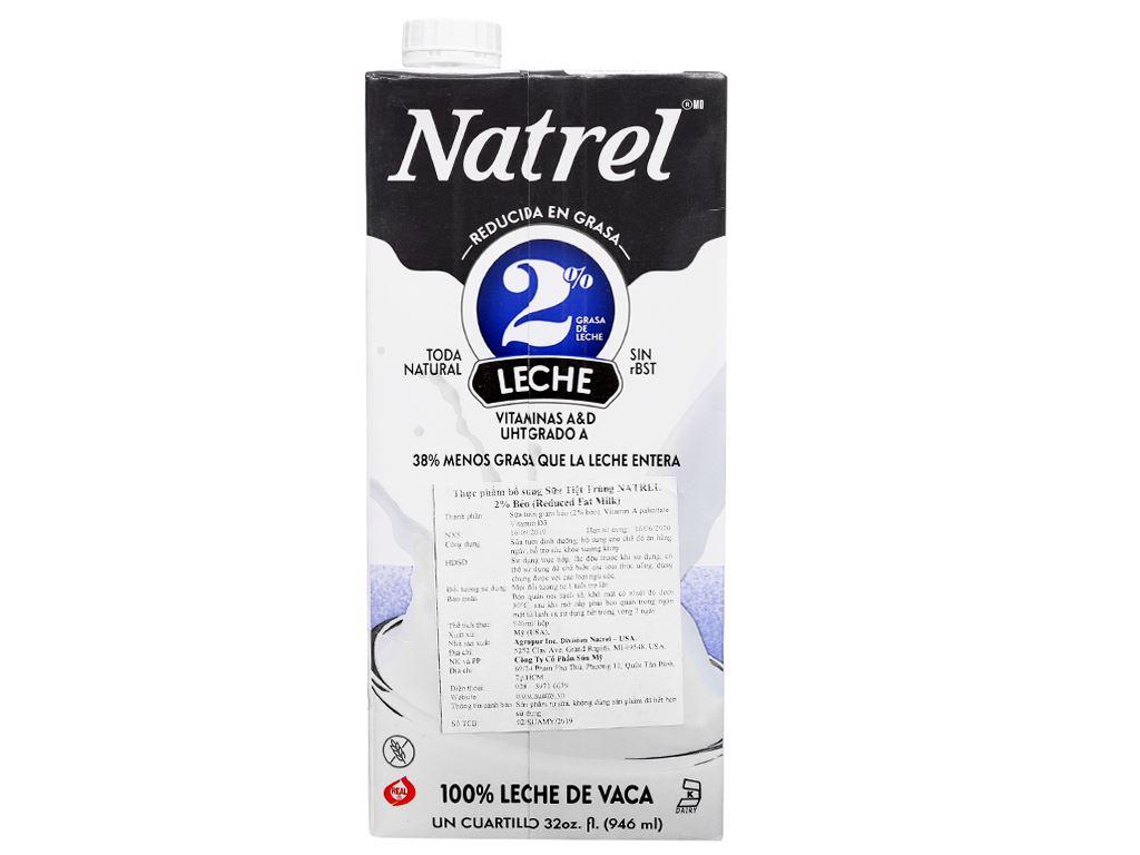 Sữa tươi tiệt trùng 2% béo Natrel hộp 946ml 2