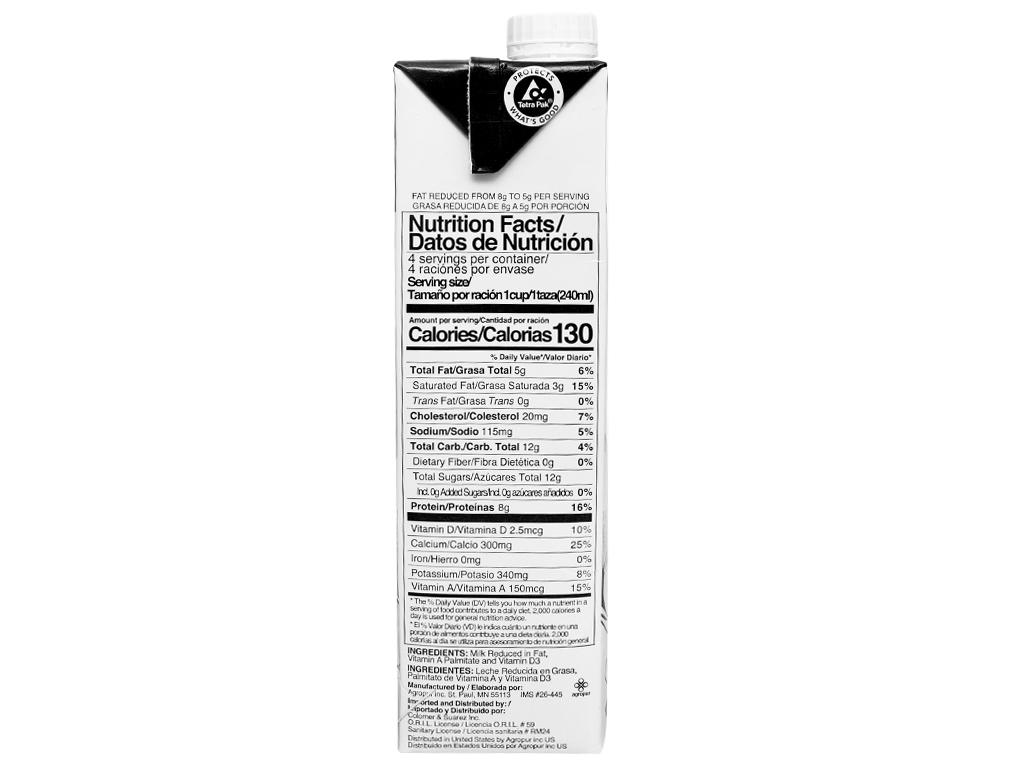 Sữa tươi tiệt trùng 2% béo Natrel hộp 946ml 3