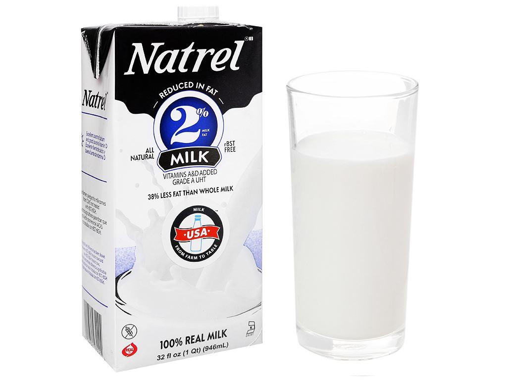 Sữa tươi tiệt trùng 2% béo Natrel hộp 946ml 1
