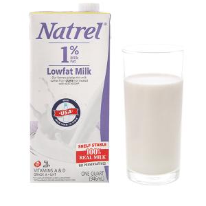 Sữa tươi tiệt trùng 1% béo Natrel hộp 946ml