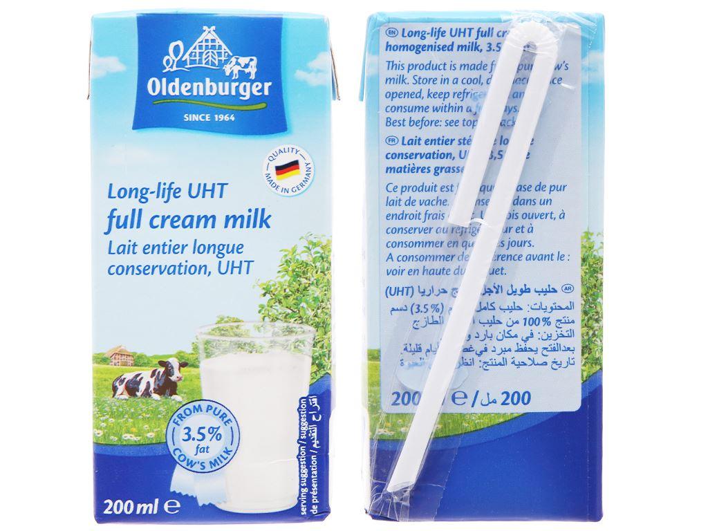 Lốc 4 hộp sữa tươi tiệt trùng Oldenburger nguyên kem 200ml 3