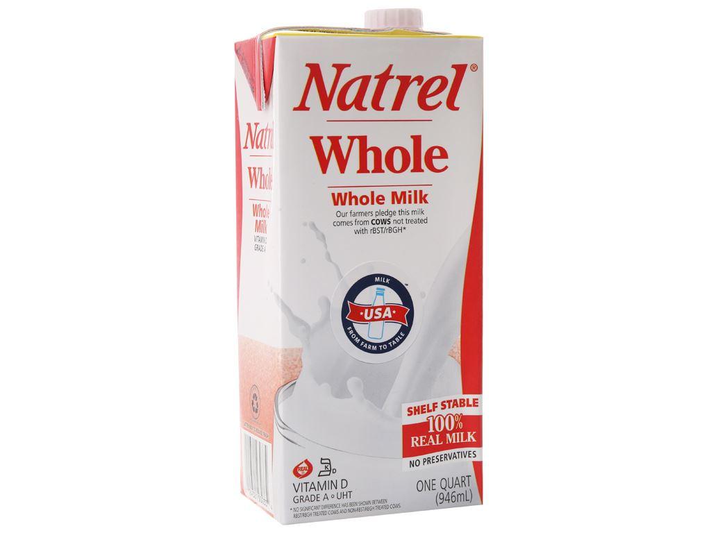 Thùng 12 hộp sữa tươi tiệt trùng Natrel nguyên kem hộp 946ml 3