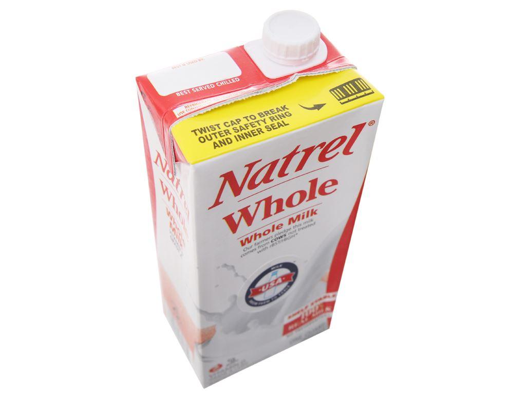 Thùng 12 hộp sữa tươi tiệt trùng Natrel nguyên kem hộp 946ml 4