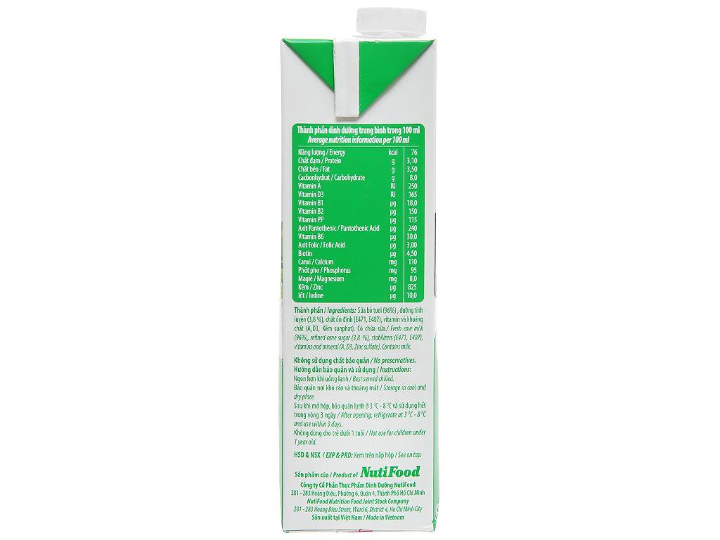 Thùng 12 hộp sữa tươi tiệt trùng có đường Nuti 100% Sữa Tươi 1 lít 4