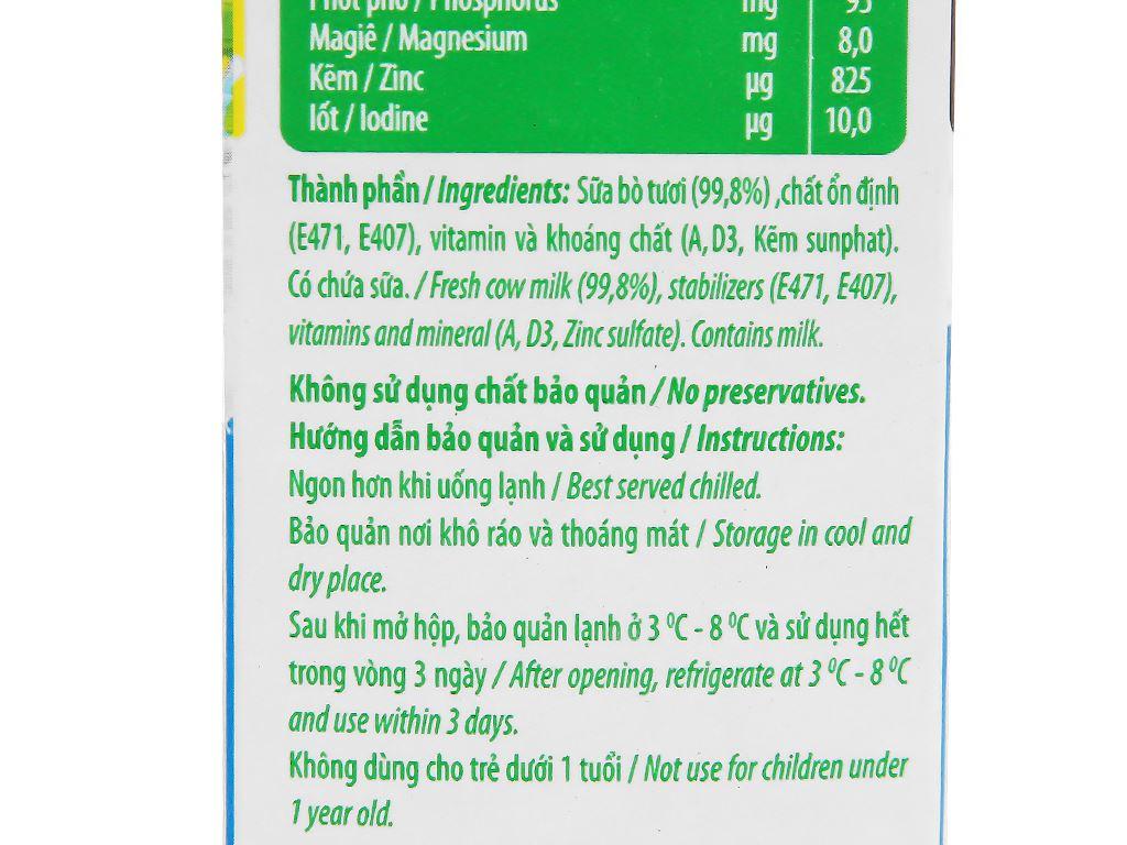 Thùng 12 hộp sữa tươi tiệt trùng không đường Nuti 100% Sữa Tươi hộp 1 lít 9