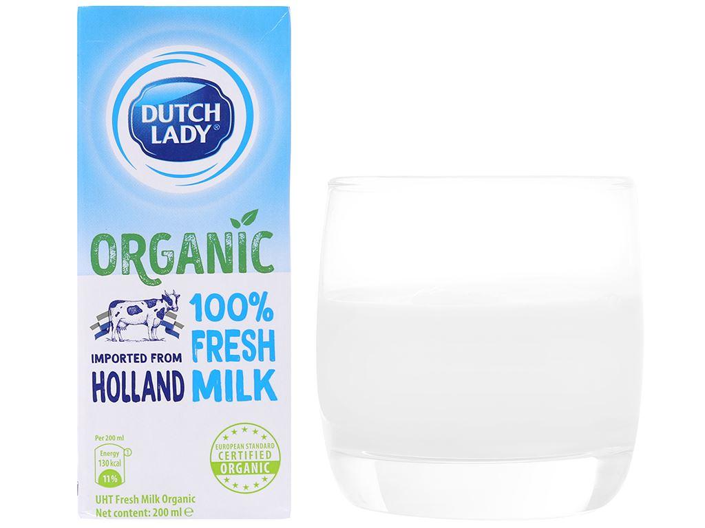 Sữa tươi tiệt trùng Dutch Lady 100% Organic nguyên chất 200ml 4