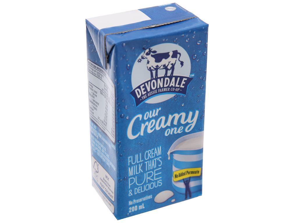 Sữa tươi tiệt trùng Devondale nguyên kem hộp 200ml 1