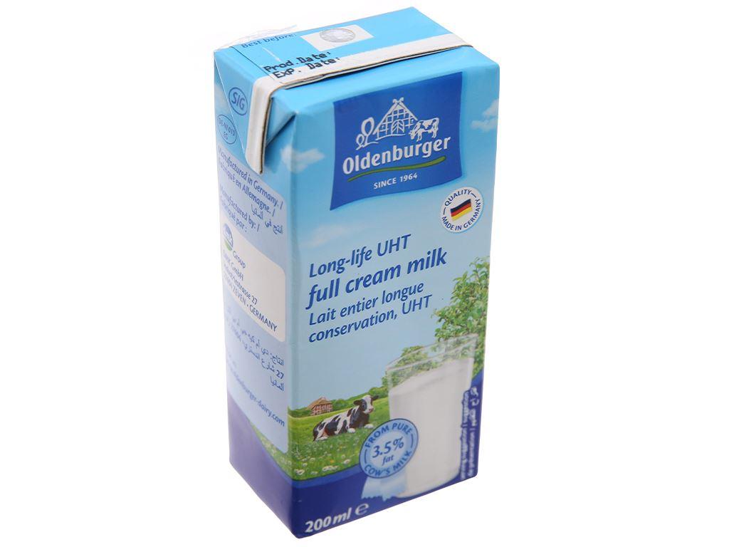 Sữa tươi tiệt trùng Oldenburger nguyên kem hộp 200ml 1