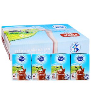 Thùng 48 hộp sữa tiệt trùng Dutch Lady sô cô la 110ml